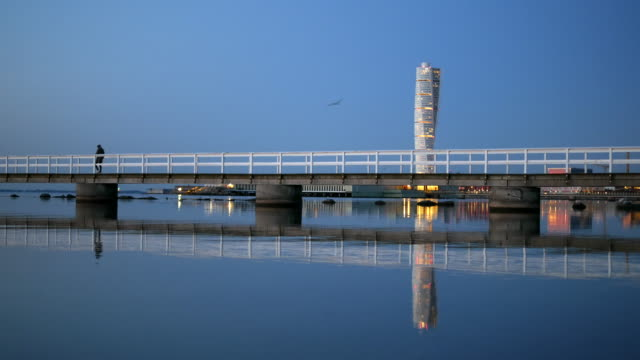 Pier in front of Turning Torso skyscraper