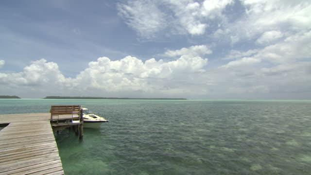 pier in palau - micronesia stock videos & royalty-free footage