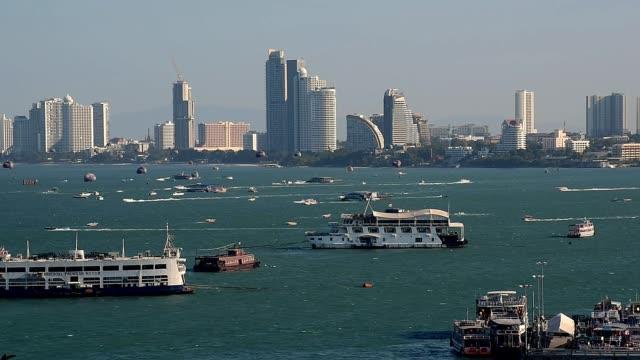 パタヤ、タイの桟橋 - パタヤ点の映像素材/bロール