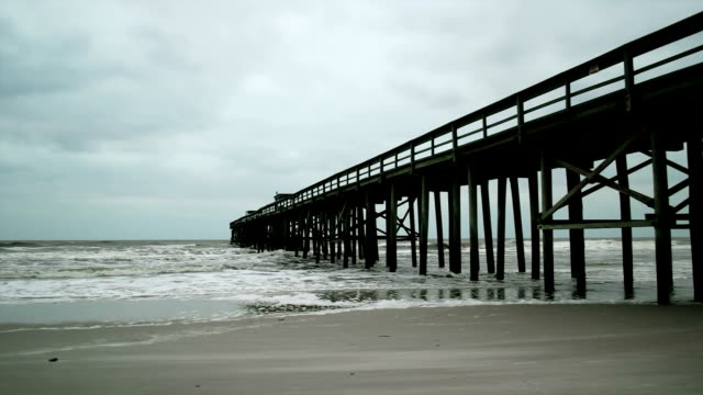 pier in rough sea - jetty stock videos & royalty-free footage