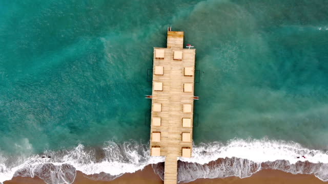 Pier in sea aerial view