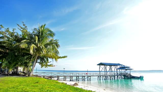 pier on beach - pier stock videos & royalty-free footage