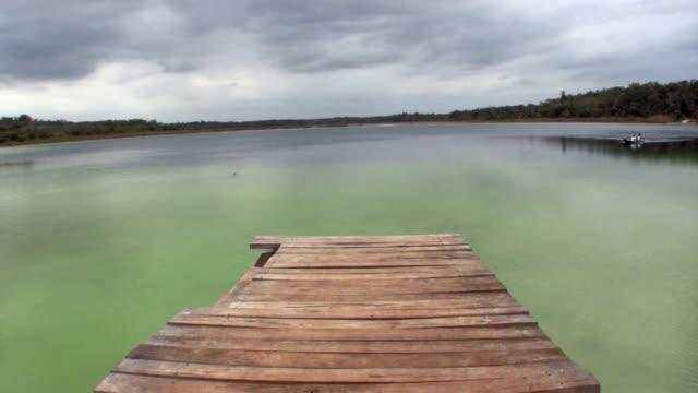 ws pier on lake at punta laguna / tulum, quintana roo, mexico - tulum mexico stock videos & royalty-free footage