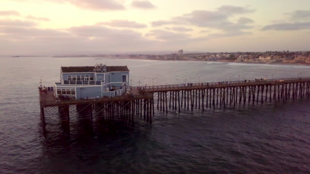 pier on the pacific ocean at oceanside, california - oceanside stock videos and b-roll footage
