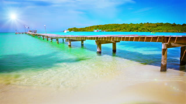 pier to sun. - caribbean sea stock videos and b-roll footage