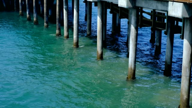 pier with water - concrete stock videos & royalty-free footage