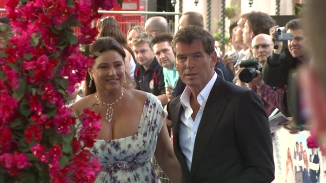 Pierce Brosnan and his wife Keely Shaye Smith at the Mamma Mia Premiere at London