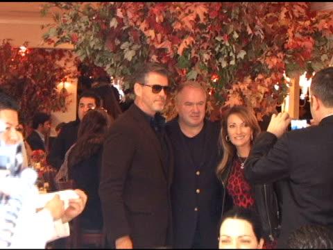 pierce brosnan and jane seymour at the celebrity sightings in new york at new york ny. - ピアース・ブロスナン点の映像素材/bロール