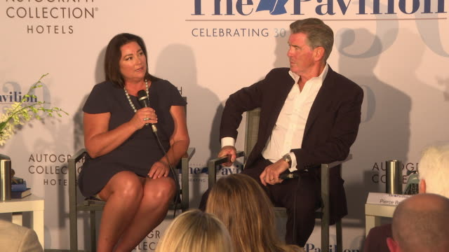 pierce brosnan and keely shaye brosnan on finding funding for the film and the filmmaking process at 'poisoning paradise' press conference the 71st... - keely shaye smith and pierce brosnan stock videos & royalty-free footage