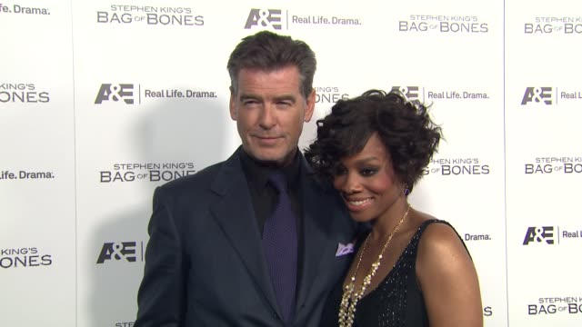 Pierce Brosnan Anika Noni Rose at Premiere Party For AE's Original Miniseries Bag Of Bones on 12/8/11 in West Hollywood CA