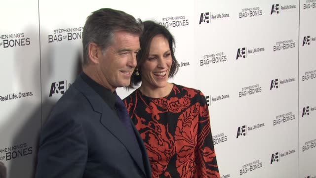 Pierce Brosnan Annabeth Gish at Premiere Party For AE's Original Miniseries Bag Of Bones on 12/8/11 in West Hollywood CA
