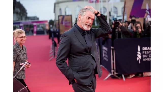 pierce brosnan arrives at the opening ceremony during the 45th deauville american film festival on september 06, 2019 in deauville, france. - opening ceremony stock videos & royalty-free footage