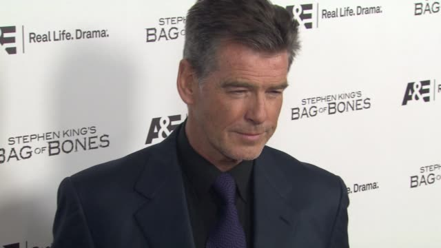 Pierce Brosnan at Premiere Party For AE's Original Miniseries Bag Of Bones on 12/8/11 in West Hollywood CA