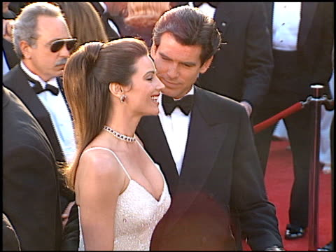 Pierce Brosnan at the 1996 Academy Awards Arrivals at the Shrine Auditorium in Los Angeles California on March 25 1996