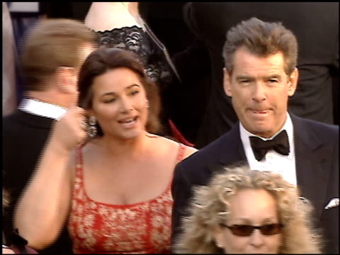 pierce brosnan at the 2005 academy awards at the kodak theatre in hollywood california on february 27 2005 - pierce brosnan stock videos and b-roll footage