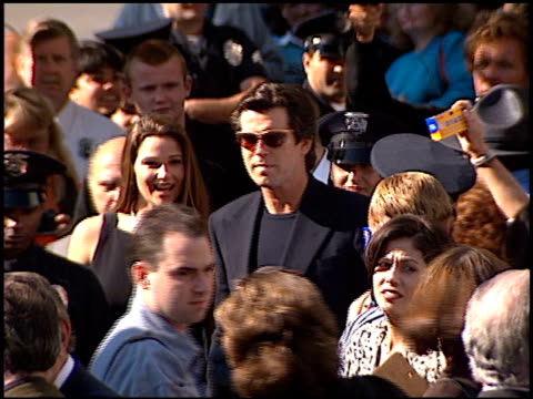 Pierce Brosnan at the Dediction of Pierce Brosnan's Walk of Fame Star at the Hollywood Walk of Fame in Hollywood California on December 3 1997