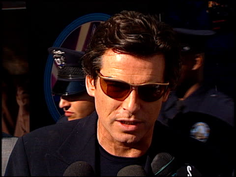 pierce brosnan at the dediction of pierce brosnan's walk of fame star at the hollywood walk of fame in hollywood california on december 3 1997 - 1997 stock-videos und b-roll-filmmaterial