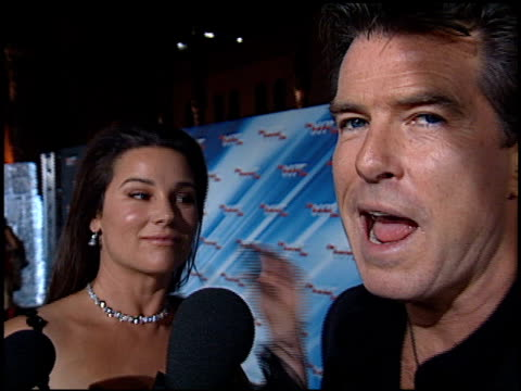 pierce brosnan at the 'die another day' premiere at the shrine auditorium in los angeles, california on november 11, 2002. - premiere stock videos & royalty-free footage