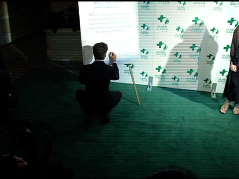 pierce brosnan at the global green usa announcement of awards for contributions to the environment at the beverly hilton in beverly hills, california... - ピアース・ブロスナン点の映像素材/bロール