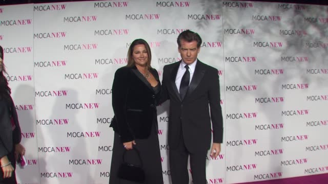 pierce brosnan at the moca new 30th anniversary gala at los angeles ca - pierce brosnan stock videos and b-roll footage