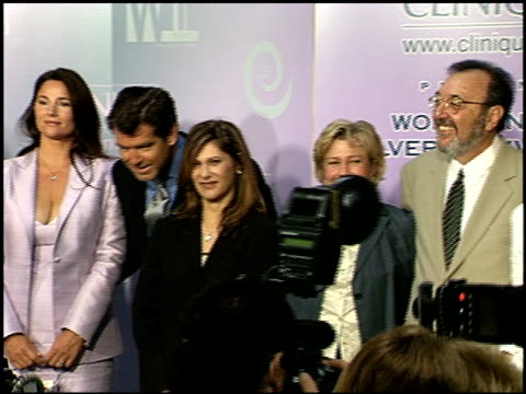 pierce brosnan at the women in film's crystal awards at the century plaza hotel in century city california on june 8 2001 - pierce brosnan stock videos and b-roll footage
