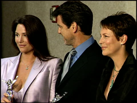 Pierce Brosnan at the Women in Film's Crystal Awards at the Century Plaza Hotel in Century City California on June 8 2001
