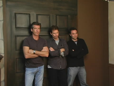 pierce brosnan, greg kinnear and richard sheppard of the matador at the 2005 hp portrait studio presented by wireimage day two at hp portrait studio... - park city stock videos & royalty-free footage