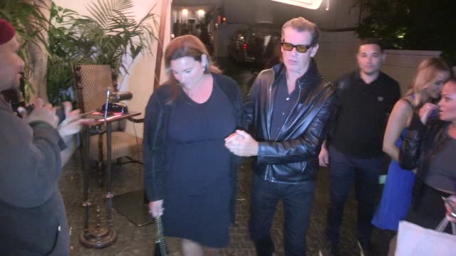 pierce brosnan keely shaye smith at the u2 after party at the chateau marmont in west hollywood celebrity sightings in los angeles on june 3 2015 in... - keely shaye smith and pierce brosnan stock videos & royalty-free footage
