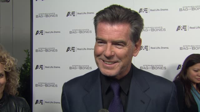 Pierce Brosnan on how he became part of the project working on a scary movie his character if he believed in ghosts at Premiere Party For AE's...