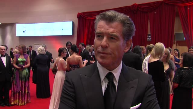 pierce brosnan on irish culture and cinema and what makes ireland so special at the the irish film & television awards at dublin . - ピアース・ブロスナン点の映像素材/bロール
