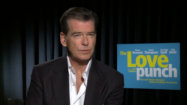 """pierce brosnan on what's on his bucket list - """"the love punch"""" los angeles junket at casa del mar on april 18, 2014 in santa monica, california. - bucket list stock videos & royalty-free footage"""