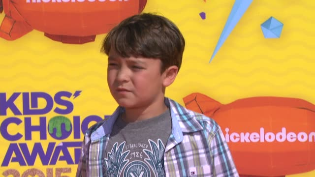pierce gagnon at nickelodeon's 28th annual kids' choice awards at the forum on march 28 2015 in inglewood california - nickelodeon stock videos & royalty-free footage