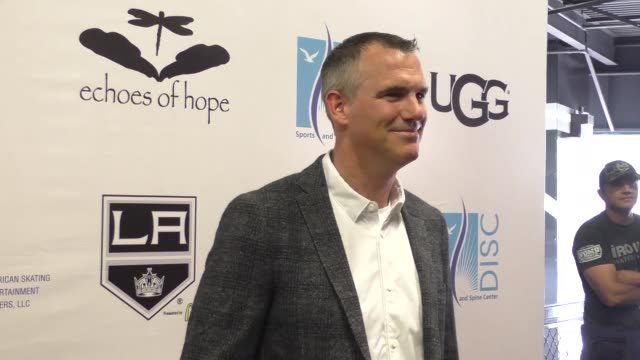 vídeos y material grabado en eventos de stock de pierre turgeon at the luc robitaille celebrity shootout at toyota sports center in el segundo at celebrity sightings in los angeles on march 20 2016... - toyota sports center