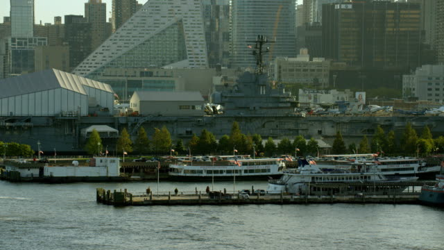 piers along hells kitchen new york city - hell's kitchen stock videos and b-roll footage