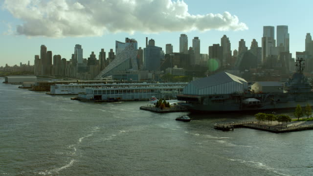 piers and waterfront of hells kitchen - hell's kitchen stock videos and b-roll footage