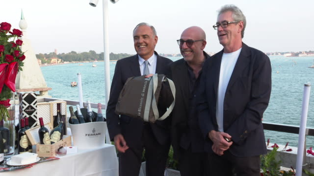 piers handling alberto barbera paolo virzi 'all about mujeres' cocktail party at hotel danieli on august 27 2019 in venice italy - pier stock videos & royalty-free footage