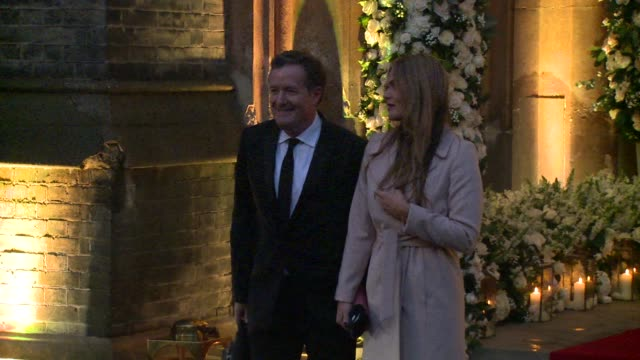 piers morgan at st paul's church on december 20, 2015 in london, england. - christine bleakley stock videos & royalty-free footage