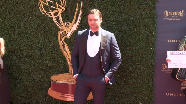 Pierson Fode at the 44th Annual Daytime Emmy Awards at Pasadena Civic Auditorium on April 30 2017 in Pasadena California