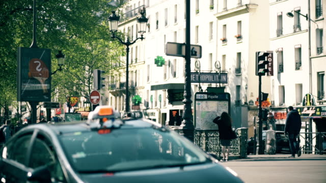 pigalle metro entrance - france stock videos & royalty-free footage