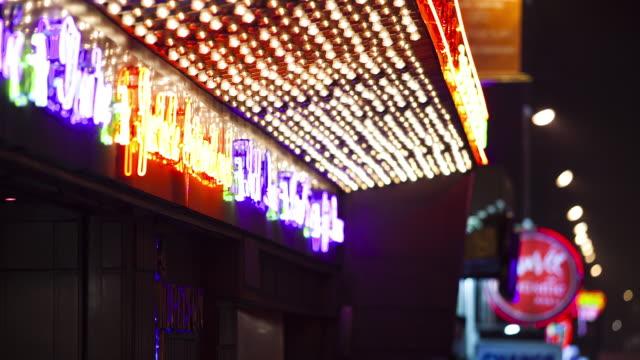 pigalle neons - neon video stock e b–roll