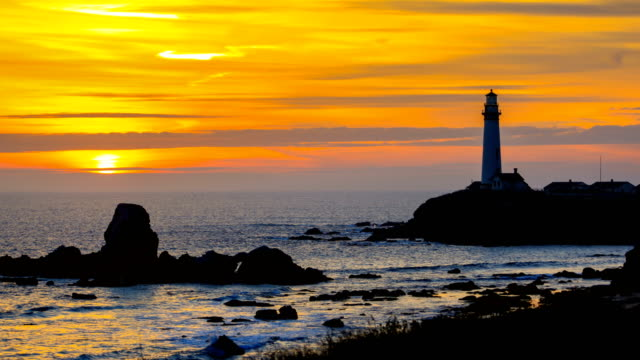 pigeon point lighthouse, ca - route 001 stock videos & royalty-free footage