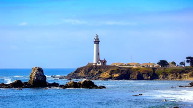 pigeon point lighthouse - 10 sekunden oder länger stock-videos und b-roll-filmmaterial