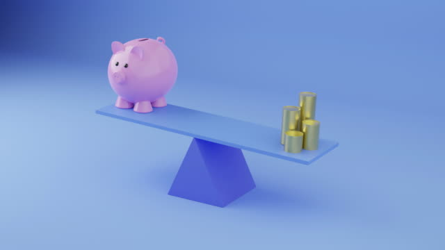piggy bank and money - pension stock videos & royalty-free footage