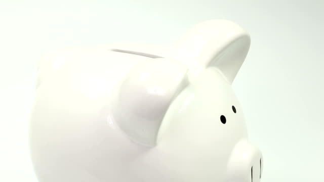 piggy bank - close up - euro symbol stock videos & royalty-free footage