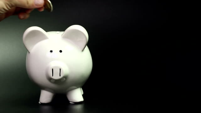 sparschwein-sparangebote - investition stock-videos und b-roll-filmmaterial