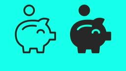 Piggy Bank - Vector Animate