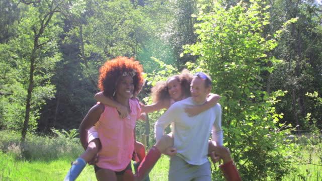 piggyback time - rural scene stock videos & royalty-free footage