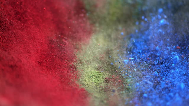 SLO MO pigments being mixed by vibration