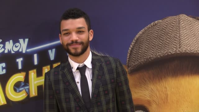 Pikachu Justice Smith Omar Chaparro Nicole Perlman Chris Geere Josh Lucas and more attend the Pokemon Detective Pikachu US Premiere in Times Square...