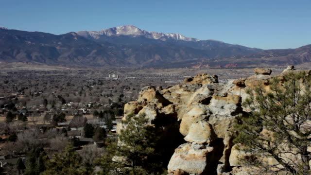 Pikes Peak Palmer Park red rocks Colorado Springs